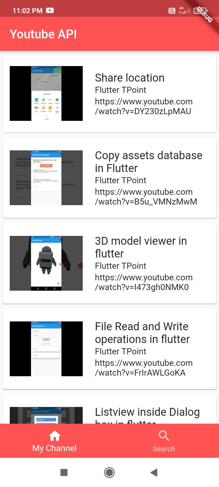 Youtube api integration flutter